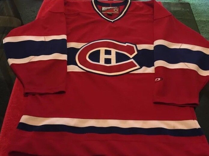 Authentic Pro Player Montreal Canadiens NHL Jersey Men's SZ M Blank Pro Cut