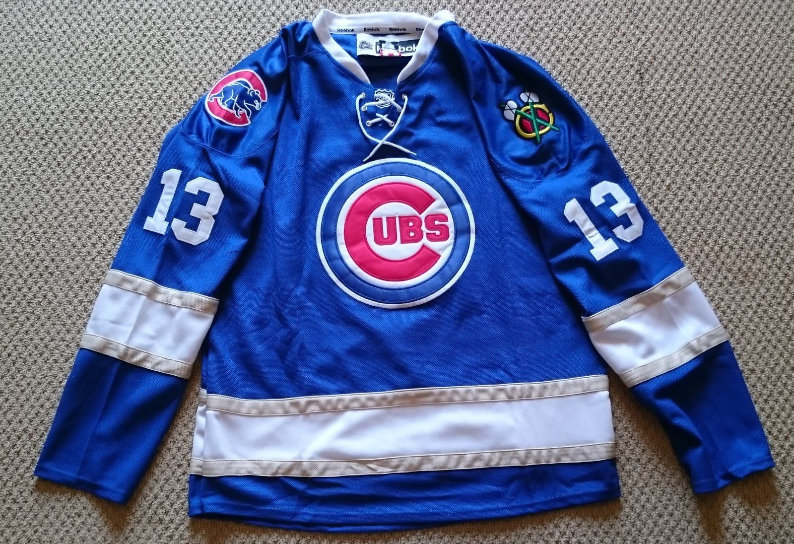 Brand New NHL Replica Chicago Cubs Hockey Jerseys.Any name,and number you want