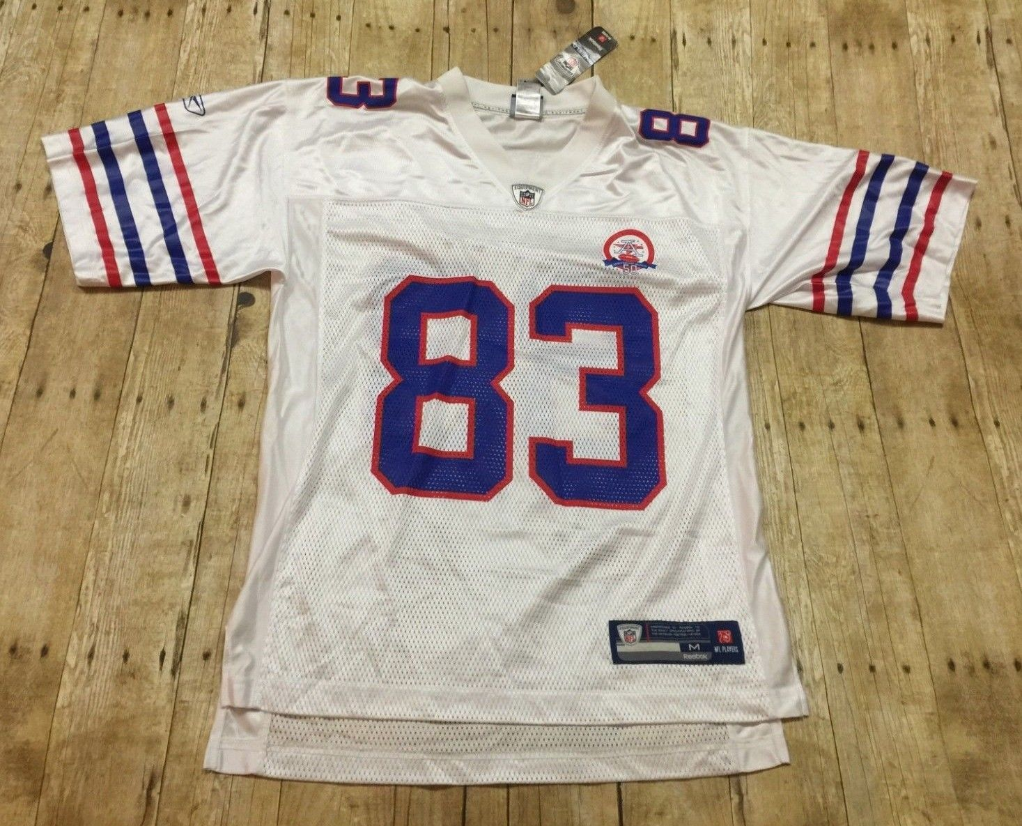 Buffalo Bills Jersey Reebok 50th Anniversary 2009 Lee Evans Medium NFL White NWT