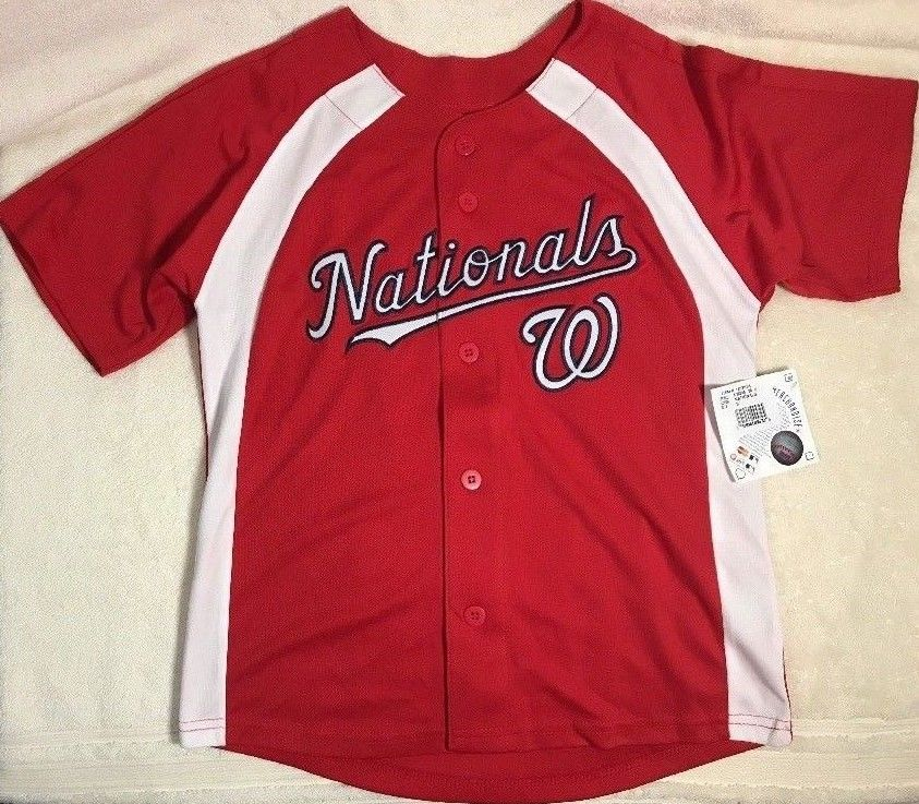 Genuine Merchandise MLB Youth Boy Washington Nationals Baseball Jersey RedK38SAA