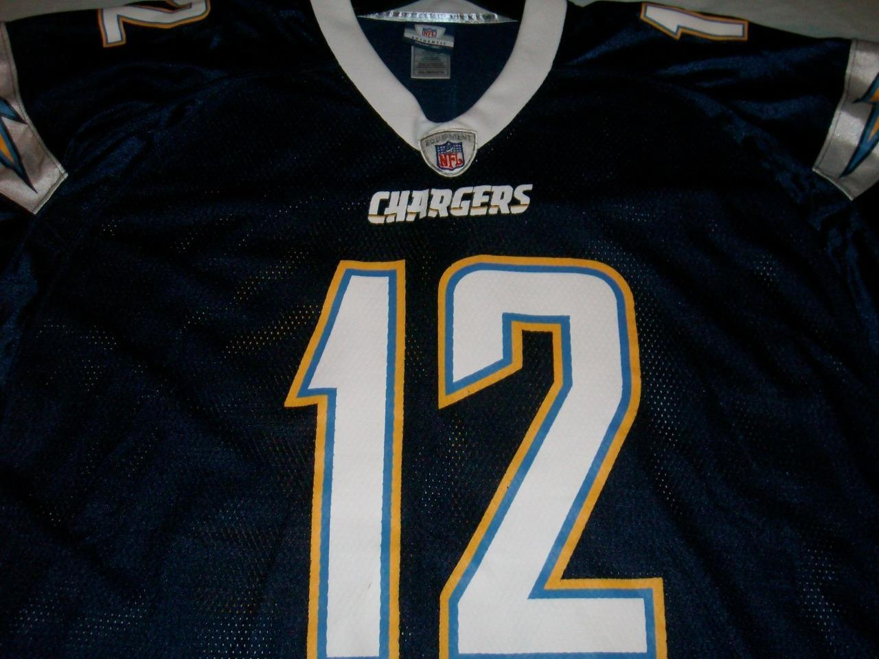 Henderson 12 San Diego Chargers NFL Vintage Blue Reebok Jersey Men's 2XL used