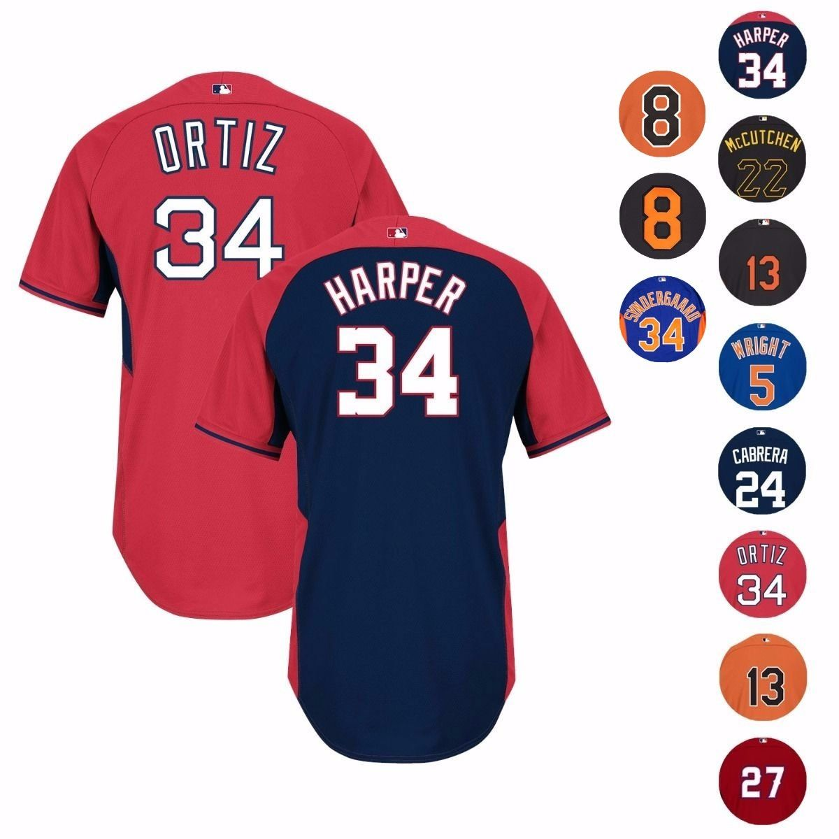 MLB Authentic On-field Cool Base Batting Practice Jersey Collection by Majestic
