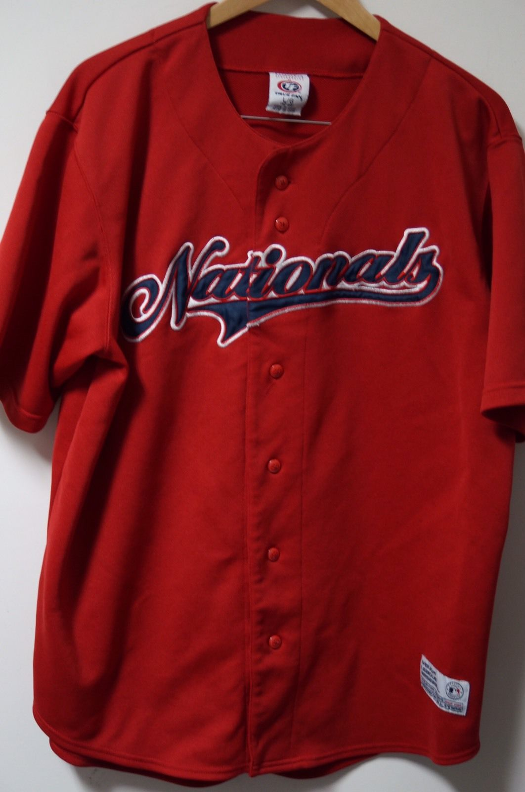Men's True Fan Washington Nationals MLB Baseball Jersey Size L 42-44 Red
