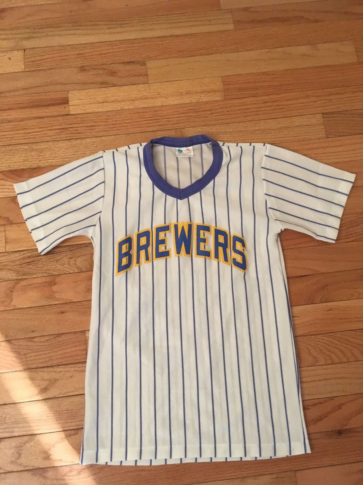 Milwaukee Brewers MLB Vintage Pro-Knit Jersey Youth Size L