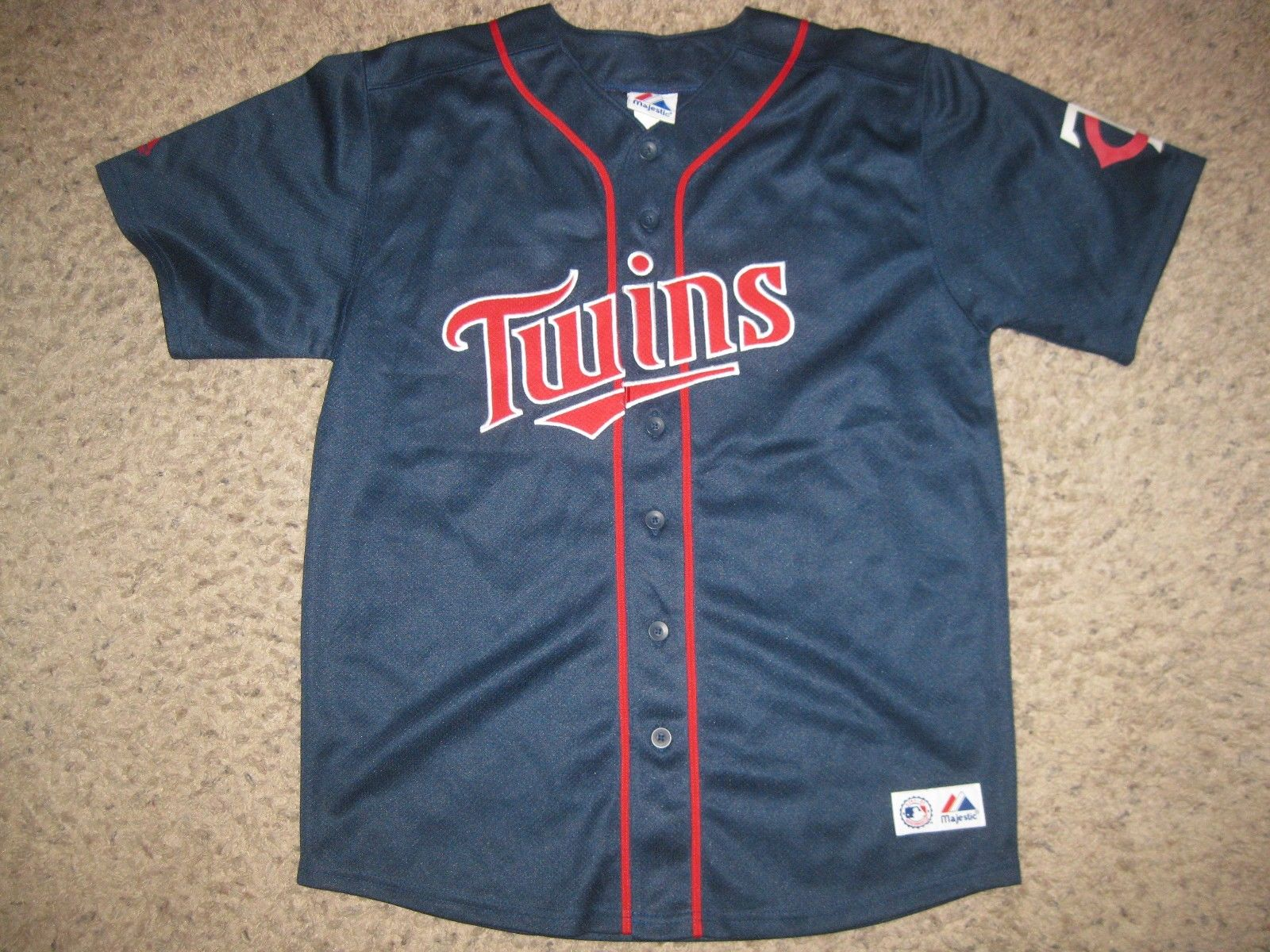 Minnesota Twins Michael Cuddyer Majestic MLB Baseball Jersey Youth XL Team Rare