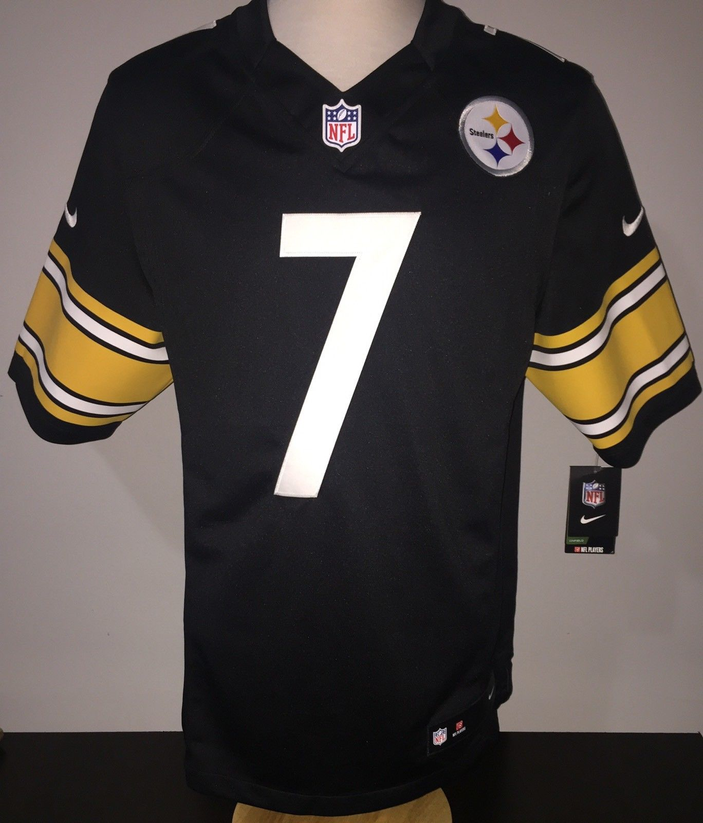 New 2018 Nike NFL Pittsburgh Steelers Ben Roethlisberger #7 Game Edition Jersey