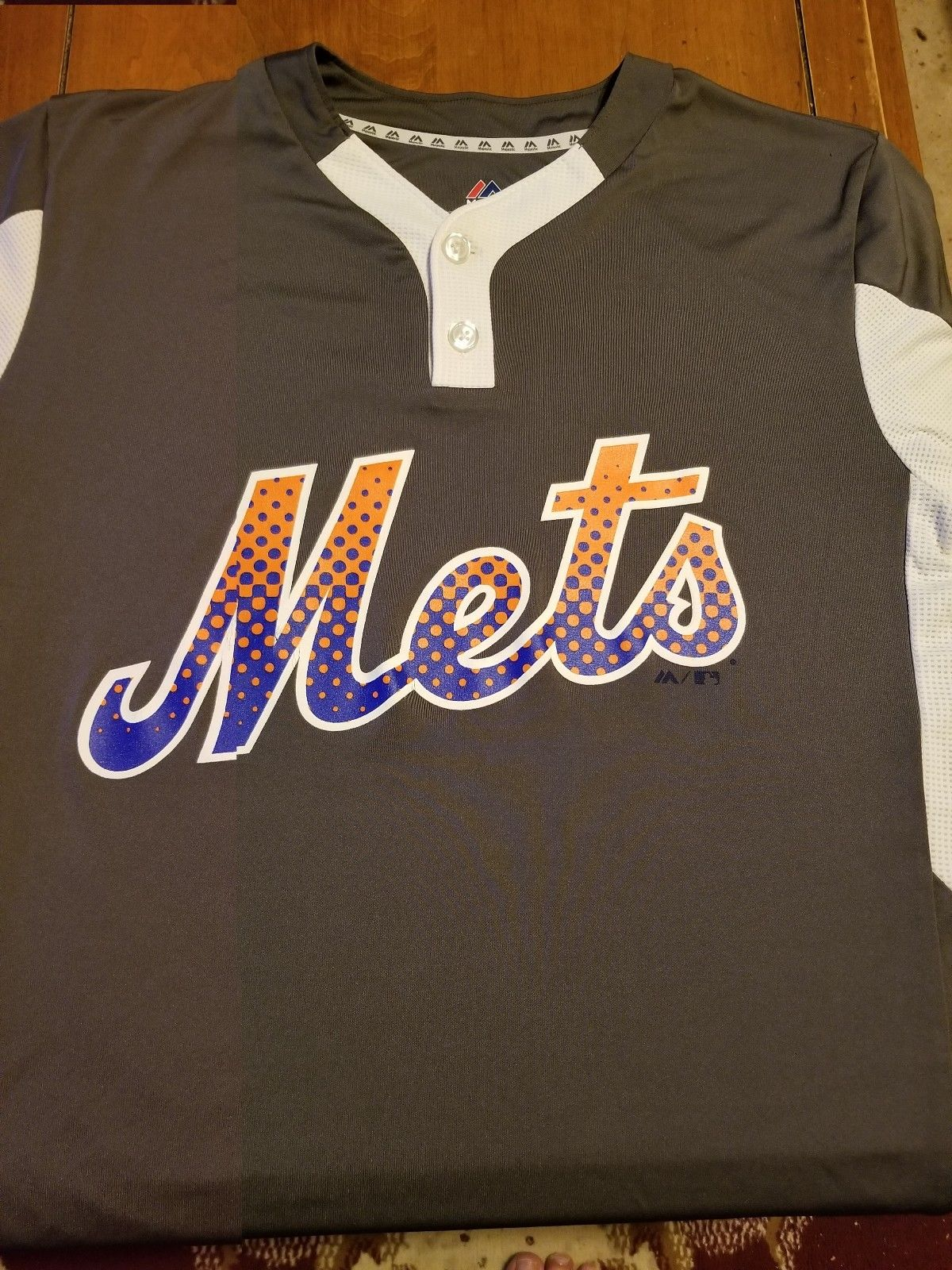 New York Mets MLB Cool Base Gray Majestic Jersey....M/M/M