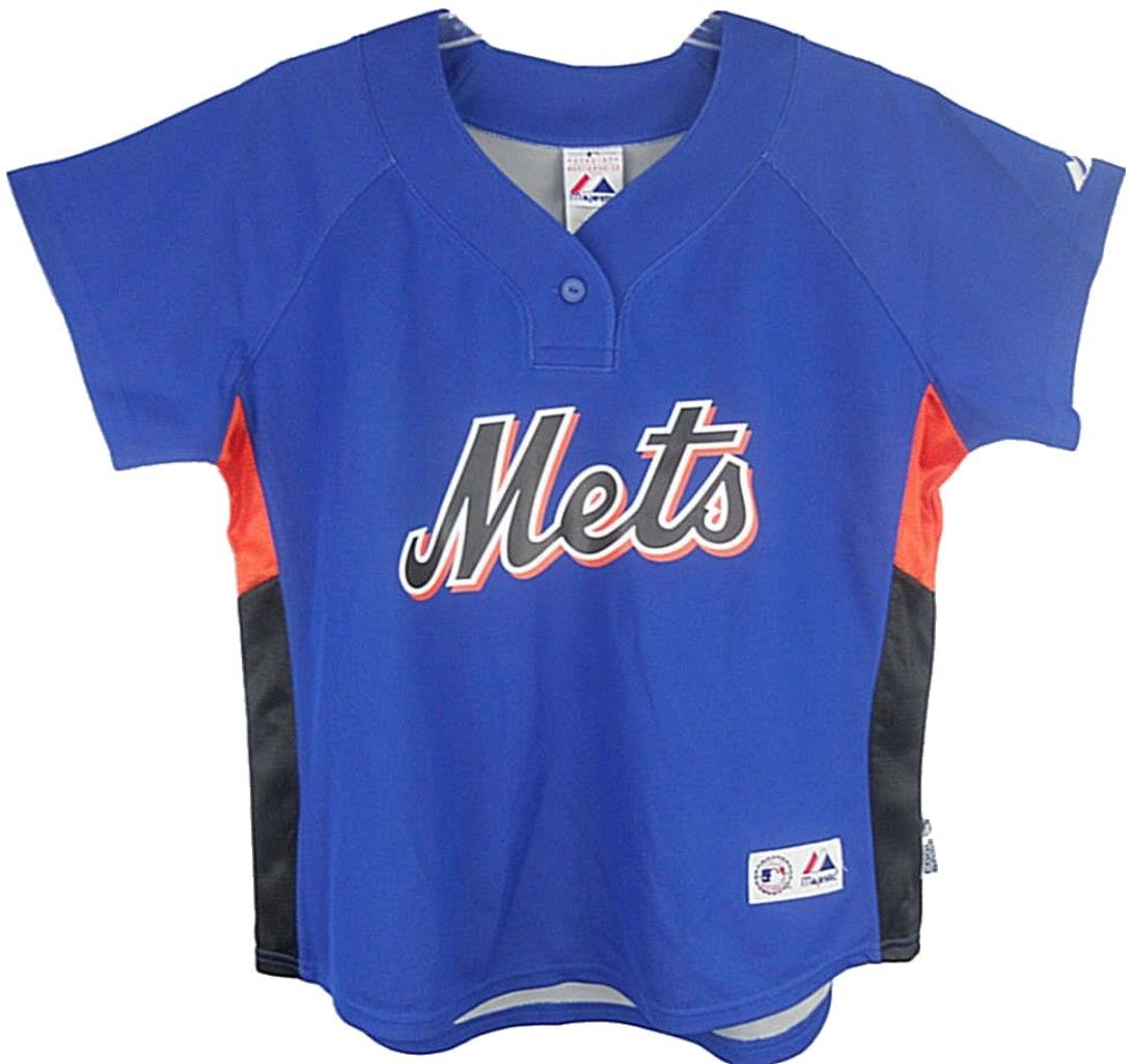 New York Mets MLB Majestic Women's Batting Practice Replica Jersey Adult Sizes