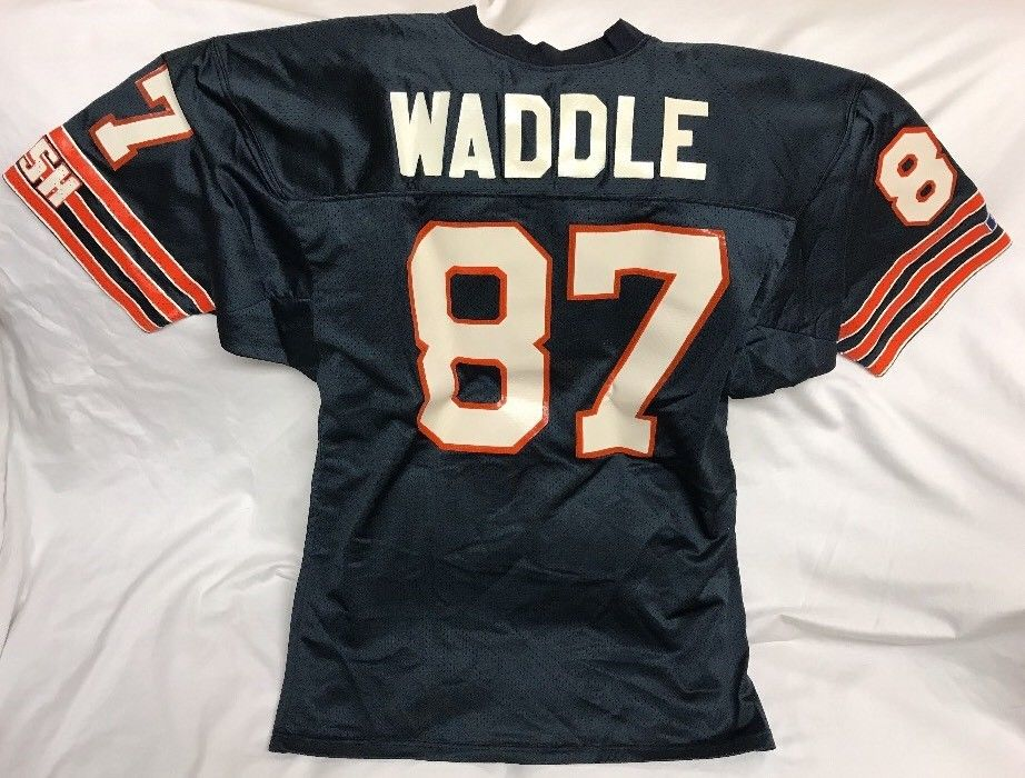 Rare Vintage Tom Waddle Chicago Bears Russell Athletic NFL Jersey Size 48 ESPN