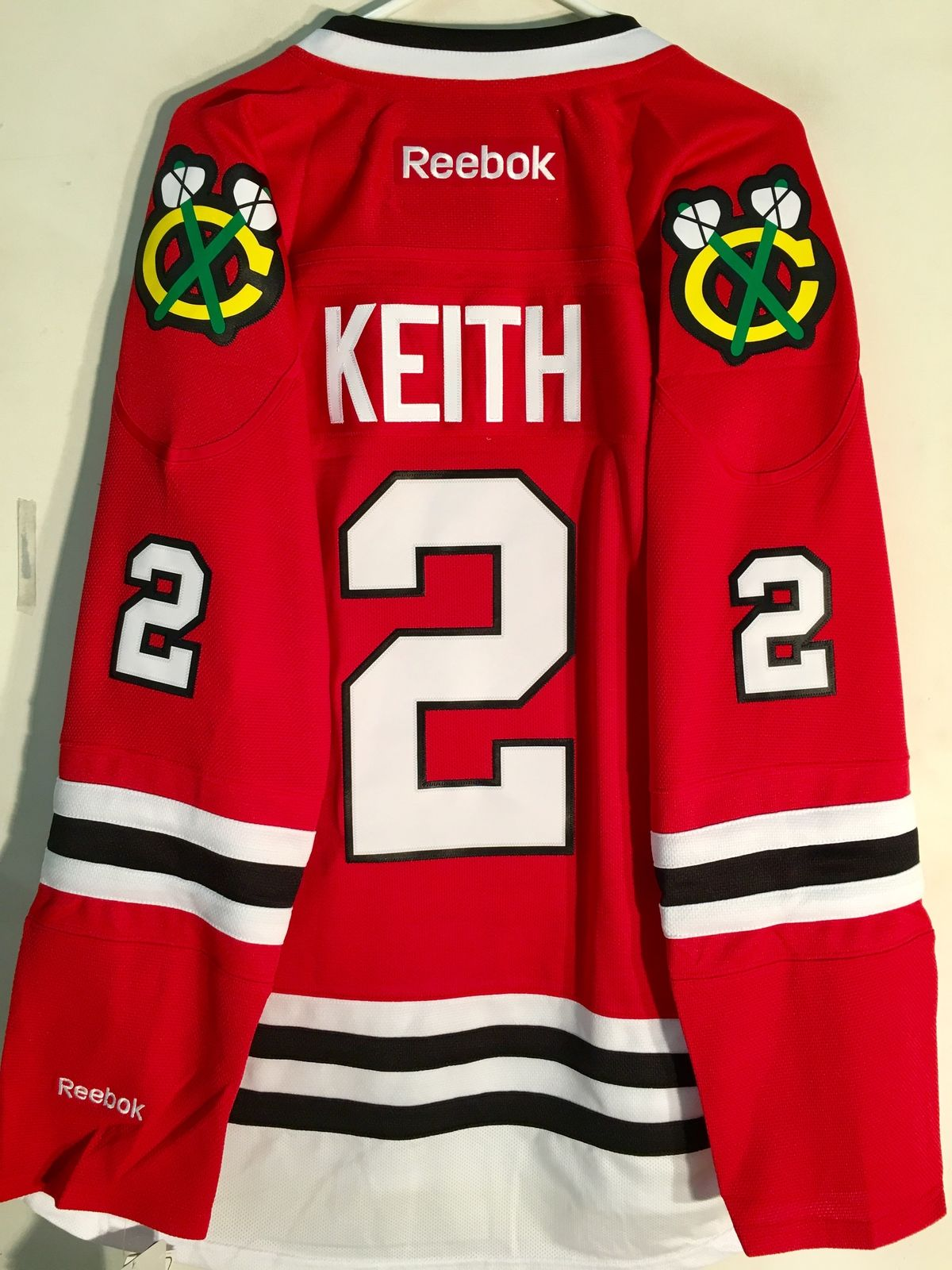 Reebok Premier NHL Jersey Chicago Blackhawks Duncan Keith Red sz M d12248bb9