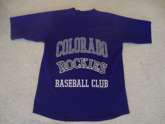 Vintage MLB 1992 Colorado Rockies Mesh V Neck Jersey M